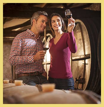 couple tasting wine smoky mountain spirits trail